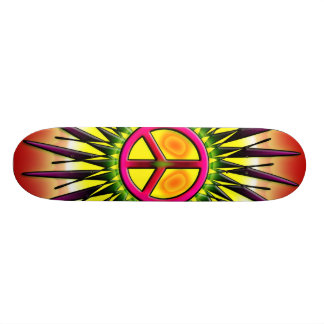 RETRO PEACE SIGN BOARD SKATE DECK