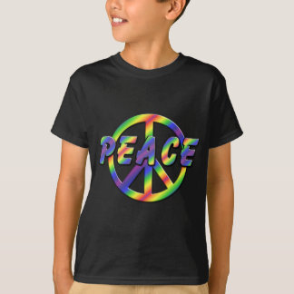Retro Peace Sign dark t-shirt for kid's