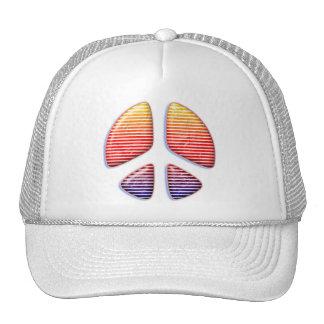 RETRO PEACE SIGN TRUCKER HATS