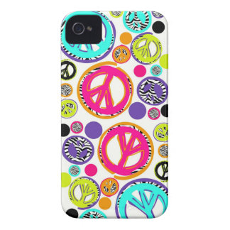 Retro Peace Sign iPhone 4 Covers