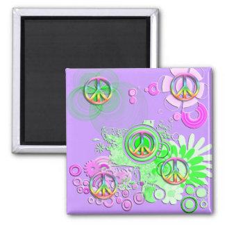 Retro Peace Sign Refrigerator Magnet