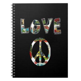 Retro Peace Sign Notebooks