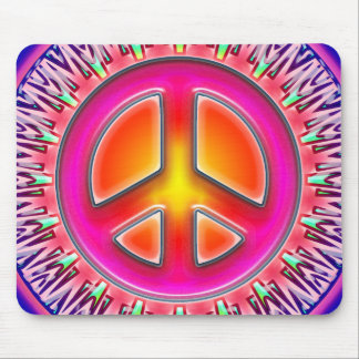 RETRO PEACE SIGN ORNAMENT MOUSE MAT