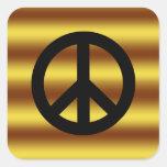 Retro Peace Sign Square Sticker