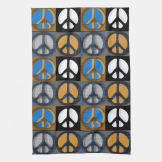 Retro Peace Sign Tea Towel
