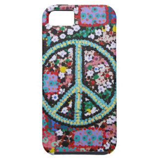 Retro Peace Sign Tough iPhone 5 Case