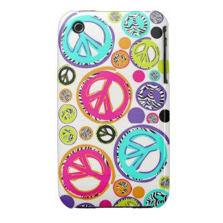 Retro Peace SIgns iPhone 3 Case-Mate Case