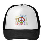 Retro Peace Trucker Hat