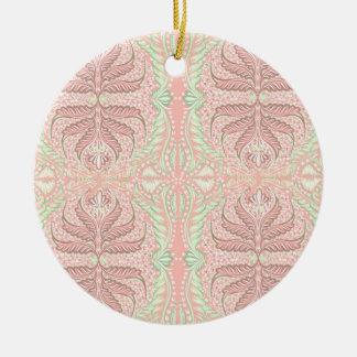 Retro Peach pattern Round Ceramic Decoration