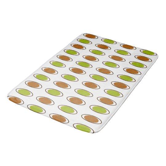 Retro-Peacock-Lime-Orange-Mod-Accent-Rug's SML Bath Mat