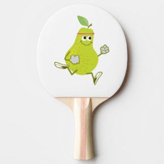 Retro Pear Runner Ping Pong Paddle