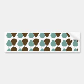 Retro Pears Bumper Sticker