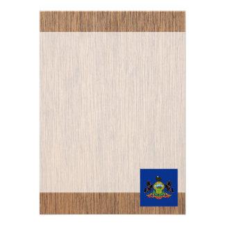 Retro Pennsylvania Flag 13 Cm X 18 Cm Invitation Card