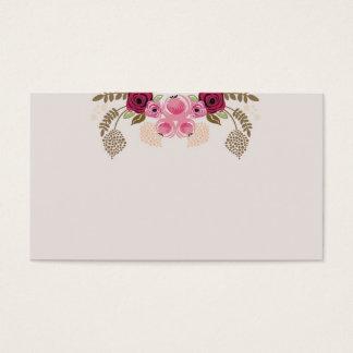 Retro peonies Business Card