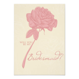 Retro Peony - Bridesmaid Invitation