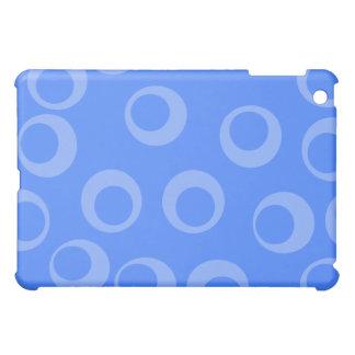 Retro pern Circle design in blue iPad Mini Case