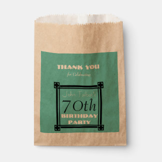 Retro Personalized Birthday Thank You Favor Bag