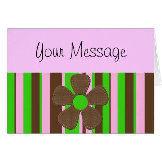 Retro petals card