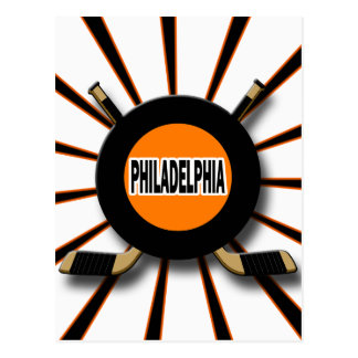 RETRO PHILADELPHIA HOCKEY POSTCARD