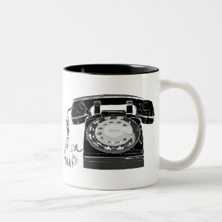 Retro Phone Two-Tone Coffee Mug