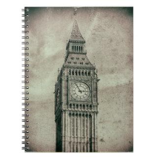 Retro Photograph Big Ben London Note Book