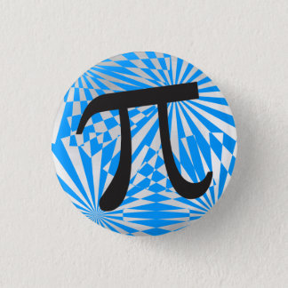 Retro Pi Symbol 3 Cm Round Badge