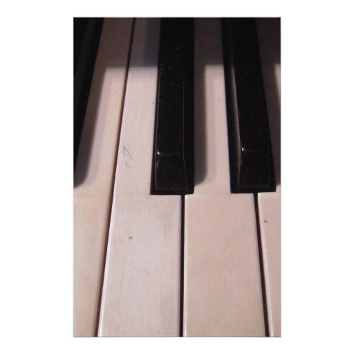 Retro Piano Keys Stationery