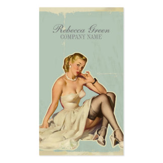 retro pin up girl beauty salon hair makeup artist pack of standard business cards