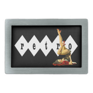 Retro Pin Up Girl Belt Buckles