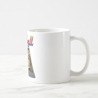 Retro Pinball Machine Design Basic White Mug