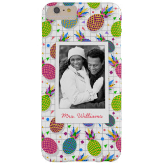 Retro Pineapple Pattern | Add Your Photo & Name Barely There iPhone 6 Plus Case