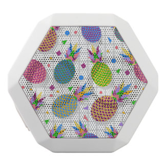 Retro Pineapple Pattern White Bluetooth Speaker