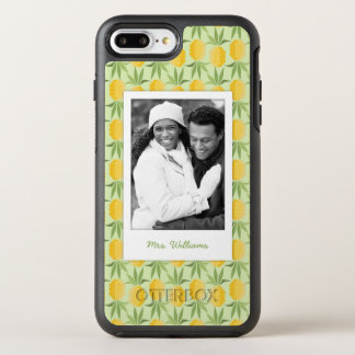 Retro Pineapples| Add Your Photo & Name OtterBox Symmetry iPhone 8 Plus/7 Plus Case