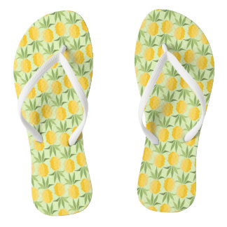 Retro Pineapples Flip Flops