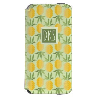 Retro Pineapples | Monogram Incipio Watson™ iPhone 6 Wallet Case