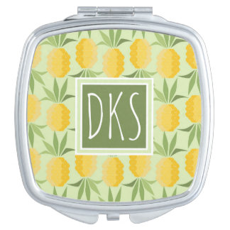 Retro Pineapples | Monogram Makeup Mirrors