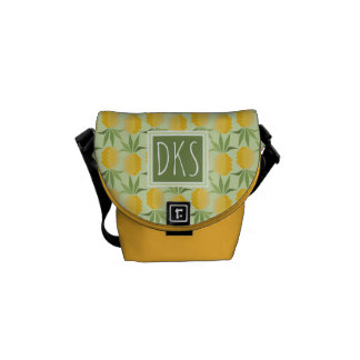 Retro Pineapples | Monogram Messenger Bag