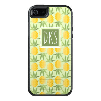Retro Pineapples | Monogram OtterBox iPhone 5/5s/SE Case