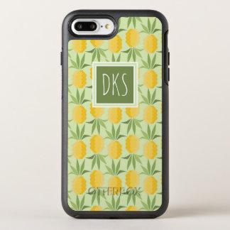 Retro Pineapples | Monogram OtterBox Symmetry iPhone 8 Plus/7 Plus Case