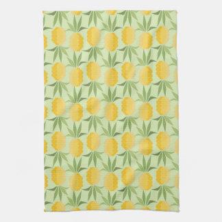Retro Pineapples Tea Towel
