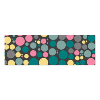 Retro Pink and turquoise Dotsl Calling Card Pack Of Skinny Business Cards