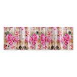 Retro Pink Antique Floral Pattern Vintage Wood Pack Of Skinny Business Cards
