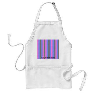 Retro pink blue and black stripes standard apron