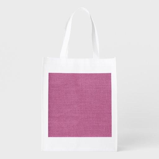 Retro Pink Canvas Grunge Texture Market Totes