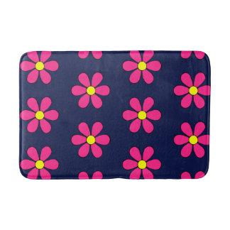 Retro Pink Daisy Summer Bathroom Rug Bath Mat
