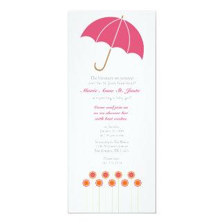 retro pink DAISYcustom BABY SHOWER invitation