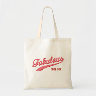 Retro Pink Fabulous Since [Your Year] Gift Bag