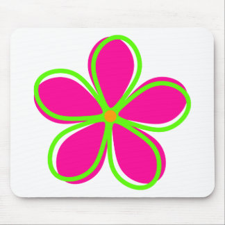 Retro Pink Flower Mouse Pad