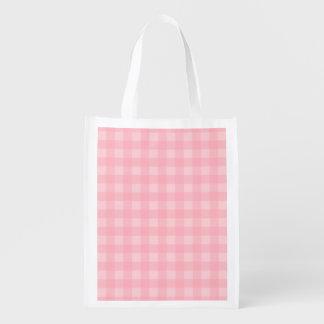 Retro Pink Gingham Checkered Pattern Background