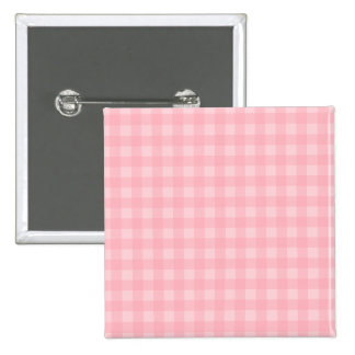 Retro Pink Gingham Checkered Pattern Background 15 Cm Square Badge